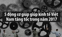 """5 """"động cơ"""" giúp kinh tế Việt Nam tăng tốc năm 2017"""