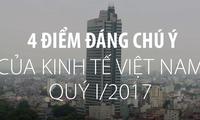 4 điểm đáng chú ý của kinh tế Việt Nam quý I/2017