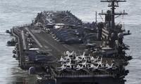 Tàu sân bay Mỹ tiếp cận vùng biển gần Triều Tiên