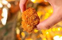 Cận cảnh miếng gà rán phủ vàng 24k giá nghìn đô ở Mỹ