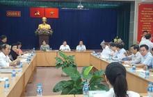 Chủ tịch UBND TP HCM đang tiếp các hộ dân nằm ngoài ranh quy hoạch ở Thủ Thiêm