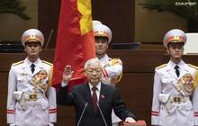 Những hình ảnh ấn tượng trong Lễ tuyên thệ nhậm chức của Chủ tịch nước Nguyễn Phú Trọng