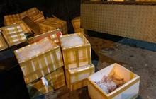 Phát hiện xe tải chở 3 tấn chim cút đông lạnh bốc mùi