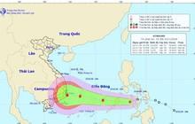 Áp thấp nhiệt đới có gió giật cấp 12 đang tiến vào biển Đông