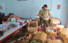 Thu giữ hàng ngàn chai mỹ phẩm không rõ nguồn gốc