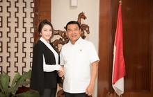 Lý Nhã Kỳ gặp gỡ Chánh Văn phòng Phủ Tổng thống Indonesia