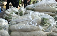 """Chùm ảnh: Người Hà Nội nhiệt tình """"giải cứu"""" củ cải cho nông dân"""