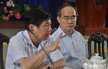 Bí thư Thành ủy Nguyễn Thiện Nhân chủ trì họp báo về vụ cháy chung cư Carina