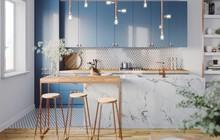Những mẫu thiết kế nhà bếp đẹp mê li cho cô nàng thích màu xanh