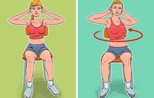 7 động tác giúp loại bỏ mỡ bụng, thon gọn vòng 2 dành cho phụ nữ ngồi nhiều: Đơn giản, ai cũng có thể thực hiện ngay tại văn phòng
