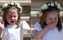 Khoảnh khắc đáng yêu của công chúa Charlotte trong đám cưới hoàng gia lần đầu được công bố khiến dân mạng phát sốt