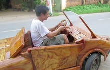 Xe gỗ thiết kế như Lamborghini lăn bánh tại Việt Nam