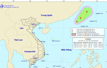 Xuất hiện áp thấp nhiệt đới trên Biển Đông