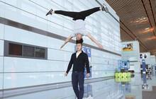 Anh em Quốc Cơ - Quốc Nghiệp tập luyện ngay tại sân bay, đã có mặt tại Ý để xác lập kỉ lục Guiness