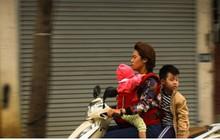 Ảnh: Dân Thủ đô vất vả di chuyển trong ngày không khí lạnh tràn về