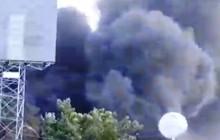 Đang cháy dữ dội ở gần cầu Mỹ Thuận