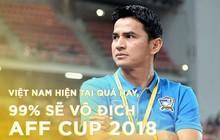 """Huyền thoại bóng đá Thái Lan Kiatisak: """"Việt Nam hiện tại quá hay, 99% sẽ vô địch AFF Cup 2018"""""""