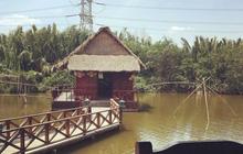 Tháo dỡ công trình vi phạm xây dựng ở Khu ẩm thực câu cá Tháp Ngà
