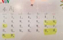 Lịch nghỉ giỗ Tổ Hùng Vương, ngày 30/4, mùng 1/5