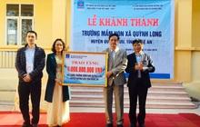 PV GAS tài trợ xây dựng 2 trường mầm non Nghệ An và Hà Tĩnh