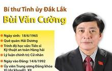 [Infographics] Bí thư Tỉnh ủy Đắk Lắk Bùi Văn Cường
