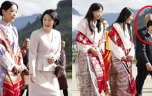 """Gia đình Thái tử Nhật Bản đặt chân đến """"Vương quốc hạnh phúc"""", cộng đồng mạng phát sốt với khí chất ngút ngàn của các thành viên hoàng gia Bhutan"""