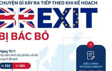 [Infographic] Kế hoạch Brexit bị quốc hội bác, Anh làm gì tiếp theo?