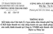 """TP HCM: Lãnh đạo sở nông nghiệp nhận tiền """"hỗ trợ"""" của Công ty Thủy Lợi"""