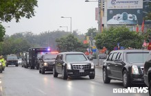 Dàn xe 'quái thú' của Tổng thống Donald Trump đổ bộ khách sạn Marriott