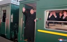 Hình ảnh đầu tiên của Chủ tịch Kim Jong-un rời Bình Nhưỡng đến hội nghị Mỹ-Triều