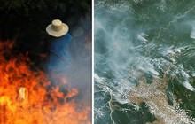 Loạt ảnh gây sốc về rừng Amazon bùng cháy với tốc độ kỷ lục: Khói có thể nhìn thấy từ ngoài không gian, các thành phố bị bao phủ mù mịt như tận thế