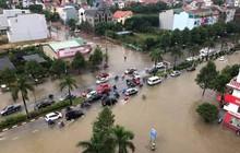 Thành phố Vinh 'thất thủ' sau trận mưa xối xả