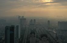 Hà Nội mịt mù trong ô nhiễm nhìn từ flycam