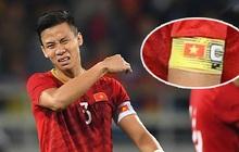 """Quế Ngọc Hải nói về chiếc băng đội trưởng thêu cờ Tổ quốc: """"Tôi muốn mang biểu tượng của dân tộc trên sân khi quyết đấu Thái Lan"""""""
