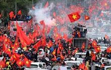 Hàng trăm cảnh sát bảo vệ an ninh, đón đoàn thể thao Việt Nam