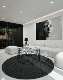 Thiết kế nội thất sang chảnh từ tông màu đen -trắng của căn hộ chỉ 55m2