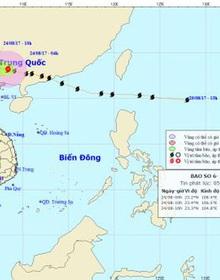 Bão số 6 đổ bộ vào Trung Quốc và suy yếu dần thành áp thấp nhiệt đới