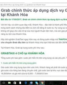 """Khánh Hoà """"cấm cửa"""" Grab taxi"""