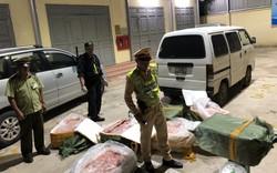 Chặn đứng 720 kg nầm lợn nhập lậu từ Trung Quốc bốc mùi hôi thối đang trên đường đi tiêu thụ