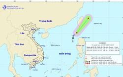 Áp thấp nhiệt đới giật cấp 9 trên vùng Đông Bắc Biển Đông