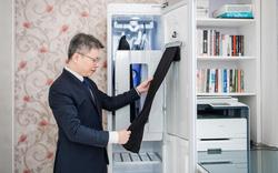 Tủ chăm sóc quần áo thông minh lọt mắt xanh các doanh nhân phong cách
