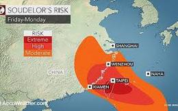 Bão Soudelor gây gió giật cấp 9-10 trên Biển Đông