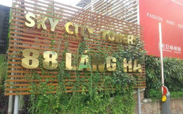 Lối đi vào chung cư cao cấp Sky City nguy cơ bị thu hẹp còn 3,5m