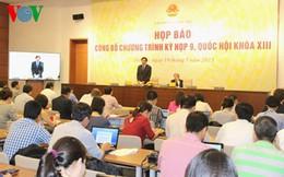 Ngày mai (20/5), khai mạc kỳ họp thứ 9 Quốc hội khóa XIII