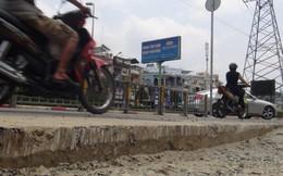 Nhiều nhà thầu thi công ẩu trên một tuyến đường