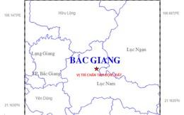Động đất 2,9 độ richter tại Bắc Giang