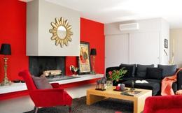 Nhà đẹp rực rỡ với sắc đỏ may mắn đầu năm
