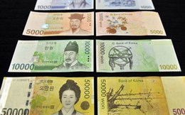 Đồng Won ở mức thấp nhất so với USD trong vòng 4 năm qua