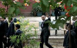Tổng thống Obama rời chùa Ngọc Hoàng