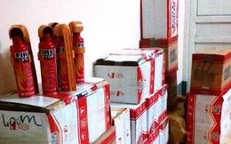 Thu giữ hơn 300 bình chữa cháy Trung Quốc nhập lậu